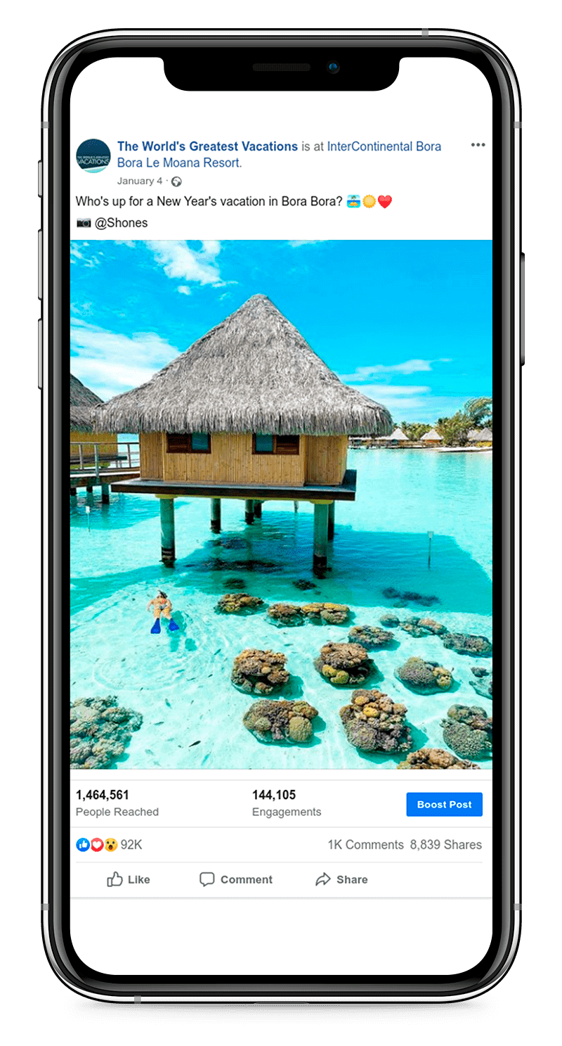 The World's Greatest Vacations Facebook Posts